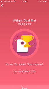 """Fitbit: Weight goal met"""